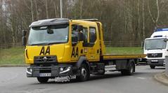 AA RX64 DFA at Telford (Joshhowells27) Tags: lorry truck aa renault recovery breakdown rx64dfa
