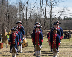 Concord Demonstration (Accipiter22) Tags: massachusetts country rural new england springinnewengland newengland concord revolutionary war revolutionarywary americanrevolution soldiers cosplay reenactors colonial uniform flag fife drums canon volunteers oldnewengland