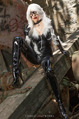 Black Cat (S1Price Lightworks) Tags: black cat cosplay girl cosplayer marvel comics spiderverse spiderman latex boots cosplays beauty universe spidey claws
