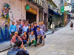 Hong Kong Street Selfie. (dagboshoots) Tags: hk hongkong selfie groupshot hollywood central asia china street photography p20pro p20 huawei phonography