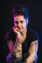 Marica (AlexanderHorn) Tags: colorgels colors portrait portraiture people woman smile face studio lighting