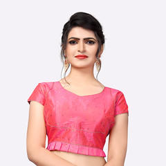 Latest Peach Silk Saree Blouse #YOYOFashion Online shopping. (yoyo_fashion) Tags: fashion style stylish womenstyle westerndress womenfashion blouse blousedesigns blousepattern blousesonline