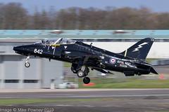 XX239 - 1978 build Hawker Siddeley Hawk T.1W, departing from Runway 30 at Prestwick (egcc) Tags: 842 cu 075 41h312075 736nas egpk hawk hawkt1a hawkersiddeley jw191 jointwarrior jointwarrior191 lightroom pik prestwick rn royalnavy xx239