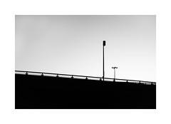 Diagonal (SebRiv) Tags: contrasts negativespace composition décarie autoroute highway montreal noiretblanc monochrome blackandwhite bckandwhite silhouette fromthecar