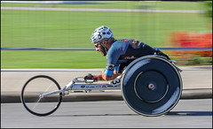 Wheelchair Racer Number 3 (Dan Dewan) Tags: october canon7dmarkii street canada150 race thursday canon wheelchair tattoo colour canonef7020014lusm portrait male 2017 ontario sunday people motion parliamenthill ottawa canon7d dandewan glasses sunglasses man beard