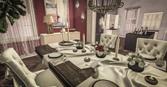 Dining in (blair.dalton) Tags: mudhoney theseasonsstory insurrektion thechapterfour mossmink ariskea fameshed sayo figure8 furniture diningroom kitchen sl secondlife interiordesign design mesh homeandgarden homes housesinsl dadvirtualliving