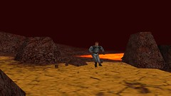 Barren Bolt (Platemail) (BarricadeCaptures) Tags: kingsquest kingsquestmaskofeternity maskofeternity thebarrenregion barrenregion lava connorofdaventry connor chainmail platemail rock gamescreenshots gamephotography videogame screencapture screenshot