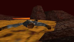 Barrened Out (Platemail) (BarricadeCaptures) Tags: kingsquest kingsquestmaskofeternity maskofeternity thebarrenregion barrenregion connorofdaventry connor chainmail platemail basilisk rock lava bridge gamescreenshots gamephotography videogame screencapture screenshot