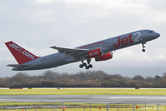Jet2 G-LSAH B757 at Manchester Airport 02-12-18 (JH Aviation and Railway Photography) Tags: egcc manchester manchesterairport southside airliner airport aircraft aviation airways airlines aviationviewingpark avp boeing b757
