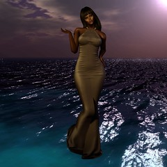 Jara (Algezares (III)) Tags: contrast ocean dark light gown kaithleens secondlife sexy sensual fameshed maitreya mesh