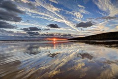 Airwaves (pauldunn52) Tags: southerndown beach sunset reflections glamorgan heritage coast wales