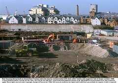 """Brownfield dev Isle of Dogs 1 (hoffman) Tags: brownfield construction contaminated contamination earth estate flats horizontal houses housing jcb land lead mud newbuild pollution property site solvents toxic davidhoffman wwwhoffmanphotoscom london uk davidhoffmanphotolibrary socialissues reportage stockphotos""""stock photostock photography"""" stockphotographs""""documentarywwwhoffmanphotoscom copyright"""