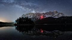 Zugspitze bei Nacht (CHCaptures) Tags: batis18mm bavaria bayern deutschland eibsee milkyway mountainlake zugspitze a7iii batis2818 emount ilce7iii ilce7m3 landscape longexposure mountain mountainscape nature night outdoor reflection snow sony