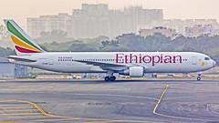 Ethiopian Boeing B767-300(ER) ET-AMF New Delhi (DEL/VIDP) (Aiel) Tags: ethiopian ethiopianairlines boeing b767 b767300er etamf newdelhi delhi canon60d tamron70300vc