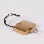 Lock and key on white background thumbnail