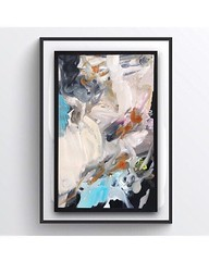 """A touch of blue! 💙 """"Covered Up,"""" if it were framed. 11""""X17,"""" Oil on paper. All work is for sale, unless marked sold. To view full collection visit Tarabergeyart.com or follow @tebergey . . . . . #abstractartorg #interiordesignart #abstractexpre (TBPT) Tags: ifttt instagram add tags colorful beta app square format iphoneography originalart oilonpaper color artist art paintings contemporaryartist newyorkartist nyc ct coloful newyorkcity instart interiordesign forsale fineart impressionism artworld beautifulart modernart artcollector contemporaryart oilpainting artwork golden pink tarabergey clouds heaven texture pastel artshow artexhibit gold goldleaf purpl framedart"""