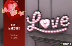 Love Marquee - 14 Days of Love Calendar Day 12 (MadPea Productions) Tags: valentines day valentine madpea productions madpeas love calendar gift gifts decor decoration neon