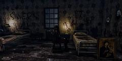Retribution (SLRedFire) Tags: scary sansar horror nuns sinner sin evil dark asylum insane depressed room window bed painting blood gore
