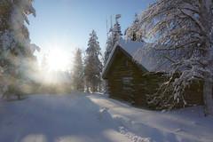 PSX_20190207_082621 (M-Bainbridge-Photos) Tags: finland winter cabin sun wintersun winterholiday snow nordic