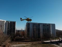 DSCF2458 (hans03) Tags: flugzeug hubschrauber berlin berlinmarzahn rettungshubschrauber eurocopter ec 135 christoph 31