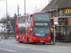 GAL WVL282 - LX59CYY - ELTHAM ROAD - SAT 16TH FEB 2019 (Bexleybus) Tags: goahead go ahead london eltham road se9 south east tfl route 321 wrightbus gemini volvo b9 wvl282 lx59cyy