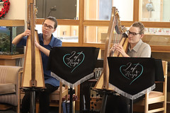 2 of Harps 1597 (Tony Withers photography) Tags: musicians harpists duo adel karina wilson music