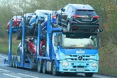 Mercedes Actros Transporter ECM N12 ECM (SR Photos Torksey) Tags: truck transport haulage hgv lorry lgv logistics road commercial vehicle freight traffic mercedes actros ecm