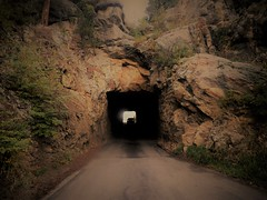 Passing Through (sirenscotland) Tags: mountains landscape outdoors foliage tunnel cars light travel roads