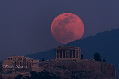 Full Moon rising over the Acropolis of Athens                        Ανατολή Πανσελήνου πάνω απο την Ακρόπολη (belas62) Tags: parthenon athens acropolis moonrise greece fullmoon πανσέληνοσ thephotographersephemeris outdoor architecture building ngc supermoon snowmoon υπερπανσέληνοσ ανατολή ακρόπολη αθήνα moon full d500 150600 150600contemporary sigma φεγγάρι nikon