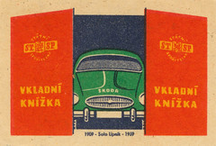 czechoslovakian matchbox labels (maraid) Tags: czechoslovakia czech czechoslovakian matchbox labels stsp savings bank car garage transport savingsbook 1950s 1959 label packaging
