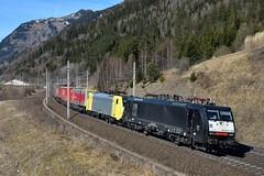 189 992 + 189 993, TEC 41875. Kolbnitz (M. Kolenig) Tags: 189 txl tauernbahn berg baum wald
