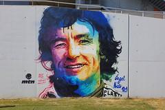 Circuit de Barcelona-Catalunya, Spain (D-A-O) Tags: barcelona circuitdebarcelonacatalunya axecolours wallart tribute portrait grandstand ángelnieto 121 spain worldchampion