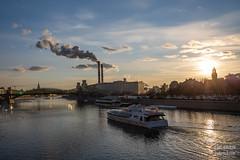 H18A6340 (Said Aminov) Tags: москва закат россия город moscow city sunset river bridge building march street sky ship