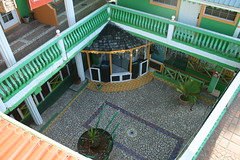 Villa des Pitons courtyard, Soufriere - St Lucia (h_savill) Tags: 2019 february feb caribbean st lucia antilles windward isles holiday trip vacation exploreworldwide travel view landscape island soufriere piton stlucia town buildings hotel