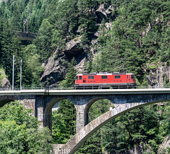 SBB Re 4'4 2 11163 Mittlere Meienruess-brucke, Wassen 09 July 2015 (BaggieWeave) Tags: switzerland swiss swisstrains swissrailways gotthardrailway gotthard gotthardbahn sbb cff ffs re44 wassen