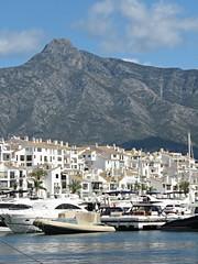 Puerto Banus View! ('cosmicgirl1960' NEW CANON CAMERA) Tags: marbella spain espana andalusia puertobanus costadelsol travel holidays blue boats sky yabbadabbadoo