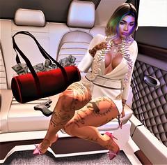 go home!casa de papel! $.$ (Victorya Dynasty) Tags: money casadepapel woman business boss youngboss dollar bitcoin tokyo berlino secondlife maitreya 3d lindenlab avatar