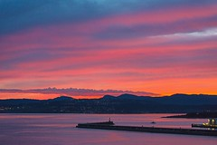 Colwood lights (L@nce) Tags: lights twilight sunset sundown clouds cloudy nikon victoria canada salishsea pacific ocean juandefuca