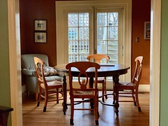 Morning table awaits (The Wide Wide World) Tags: table home breakfast sunlight dining room takoma park maryland iphone