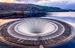 Lady Bower-13 (andyyoung37) Tags: dam ladybowerreservoir peakdistrict waterreflections plughole sunset sunsetreflections theportal