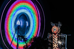 laney college spring fair (pbo31) Tags: eastbay alamedacounty oakland color night daek black march 2019 boury pbo31 butler amusements fair ride carnival traveling spinning 880 lightstream motion silhouette blue zipper