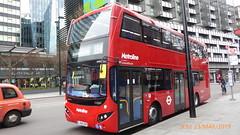 P1150175 VMH2554 LA68 DXP at Warren Street Station Hampstead Road Euston London (LJ61 GXN (was LK60 HPJ)) Tags: metroline volvob5lhybrid mcv evoseti mcvevoseti 105m 10490mm nb959