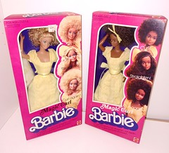 Magic curl barbie 1981 both NRFB 💠 (allyxbee) Tags: barbie christie magiccurl magiccurlbarbie 1981barbie 1981magiccurlbarbie mattel retro