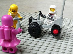Oh la la! (captain_joe) Tags: toy spielzeug 365toyproject lego minifigure minifig moc febrovery space rover car auto 886 ballonreifen