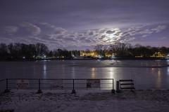 Night in Herastrau (αpix) Tags: moon night herastrau park bucuresti bucharest sony alpha romania