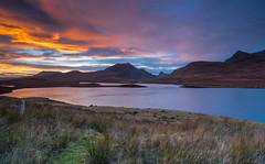 From Knockan Crag. (Gordie Broon.) Tags: knockancrag coigach culbeag stacpollaidh benmorecoigach scottishhighlands westerross sutherlandshire scotland schottland sunset scozia atardecer lago landscape lochananais anlaogh sonnenuntergang scenery paisaje scenic caledonia paysage lecoucherdusoleil elphin inchnadamph lac heuvels colinas collines ullapool ecosse escocia drumrunie drumrunieforest gordiebroonphotography winter sonya7rmkii ilce7rm2 sonyzeiss1635f4lens alba mountains hills landschaft sky hugeln geotagged