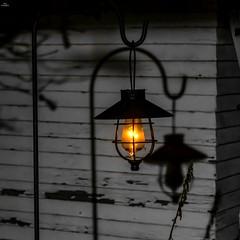 Solar lamp and shadows (dsgetch) Tags: mybackyard bokeh bokehlicious depthoffield dof cascadia pacificnorthwest pnw pnwlife pnwwonderland oregon lanecounty eugeneoregon solarlamp solar hanginglantern lamp lantern filament shadow lowlight lowlightphotography night nightphotography shadows