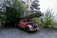 old firefighter car (Christin-BildinGrau) Tags: urbex urbanexploration urbexphotography abandoned abandonedplaces lostplaces lostplacesphotography lost decay decayphotography beautyindecay
