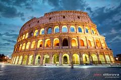 Colosseum at dusk (Dibrova) Tags: rome colosseum italy dusk sunset sunrise night coliseum landmark roma twilight europe roman old colosseo ancient amphitheater monument gladiator arena stadium