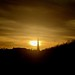 Zonsondergang boven het Malieveld